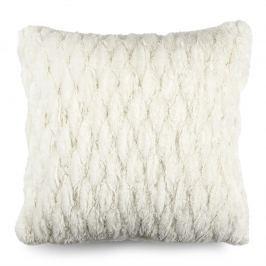 BO-MA Szőrös párnahuzat varrattal fehér, 45 x 45 cm