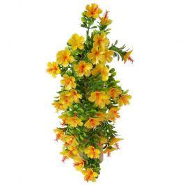 Művirág Hibiszkusz narancssárga, 40 cm