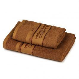 4Home Bamboo Premium törölköző és fürdőlepedő szett barna
