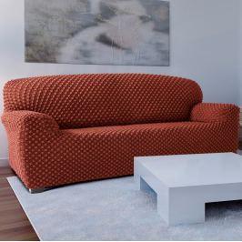Forbyt Contra multielasztikus kanapéhuzat teracotta, 180 - 220 cm