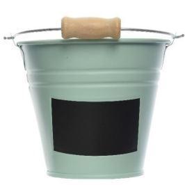 Vödör címkével zöld, átm. 11 cm