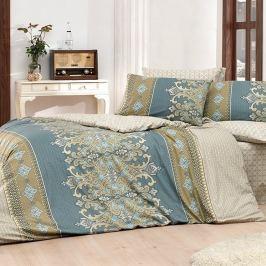 Bed Tex Valeria pamut ágyneműhuzat szürke/bézs, 140 x 220 cm, 70 x 90 cm, 140 x 220 cm, 70 x 90 cm