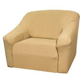 4Home Multielasztikus fotelhuzat Elegant bézs, 70 - 110 cm, 70 - 110 cm