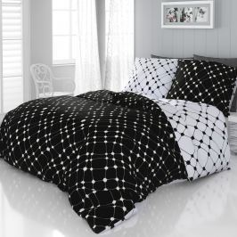 Kvalitex Infinity szatén ágyneműhuzat fekete fehér, 140 x 200 cm, 70 x 90 cm