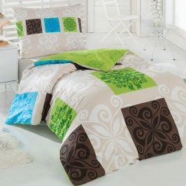 Sedef pamut ágynemű, zöld, 140 x 220 cm, 70 x 90 cm, 140 x 220 cm, 70 x 90 cm