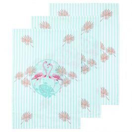 Flamingó konyharuha kék, 50 x 70 cm, 3 db-os szett