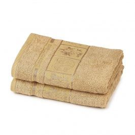 4Home Bamboo Premium törölköző, bézs, 50 x 100 cm, 2 db-os készlet