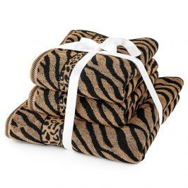 Jahu Zebra törölköző szett barna