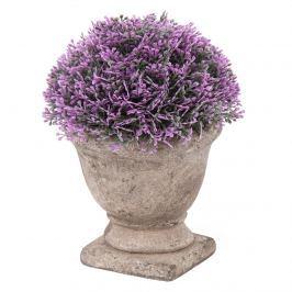 Művirág beton virágtartóban, lila