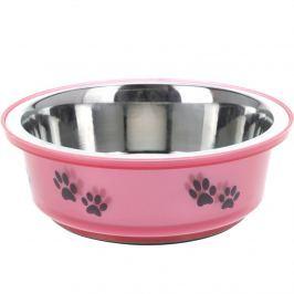 Etetőtál kutyáknak  rózsaszín, 400 ml
