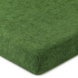 4Home frottír lepedő olivazöld, 160 x 200 cm, 160 x 200 cm