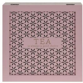 Trento fa teatartó doboz, rózsaszín
