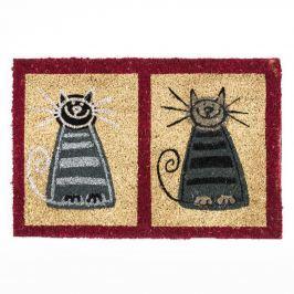 BO-MA Trading Kókusz lábtörlő két cica, 40 x 60 cm