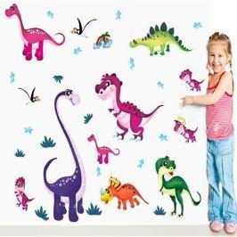 Színes dinoszauruszok öntapadó dekoráció