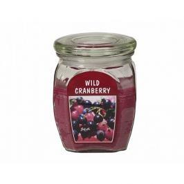 Gyertya üvegben Vörösáfonya, 430 g