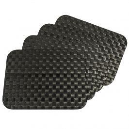 Regina alátétek fekete, 35 x 45 cm, készlet 4 db