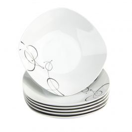 Domestic Chanson 6 részes mély tányér készlet, 21,5 cm