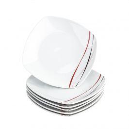 Domestic Amelie 6 részes desszert tányér készlet, 19 cm