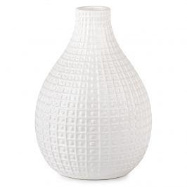 Pompei kerámia váza, fehér, 26 cm