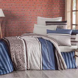 Delux Stripe pamut ágynemű, kék, 140 x 220 cm, 70 x 90 cm, 140 x 220 cm, 70 x 90 cm