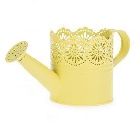 Lace fém öntözőkanna sárga, átm. 10 cm