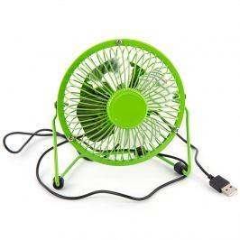 USB ventilátor, zöld, 13,5 x 11 x 15 cm
