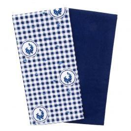 Country konyhatörlő kocka kék 50 x 70 cm, 2 db-os szett