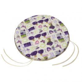 Bellatex Gita Provence – Levendula csokorban sima, kerek  székpárna, 40 cm