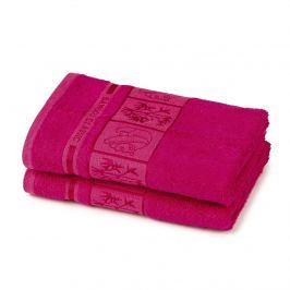4Home Bamboo Premium törölköző, rózsaszín, 50 x 100 cm, 2 db-os készlet