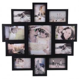 Family képkeret 11 fotóhoz, fekete, 61x61x2 cm