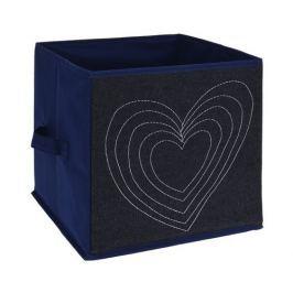Heart textil tároló doboz, 27 x 27 x 27 cm
