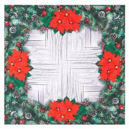 Mikulásvirág karácsonyi abrosz, 85 x 85 cm