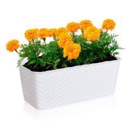 Ön-öntöző virágtartó 30 cm – fehér