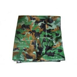 Ponyva karikákkal 80 g/m2 400 x 500 cm – khaki