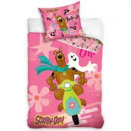 Scooby Doo Pink gyerek pamut ágyneműhuzat, 140 x 200 cm, 70 x 80 cm