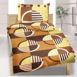 Bellatex Kerekek pamut ágyneműhuzat barna