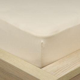 4Home Jersey lepedő elasztánnal bézs színű, 180 x 200 cm