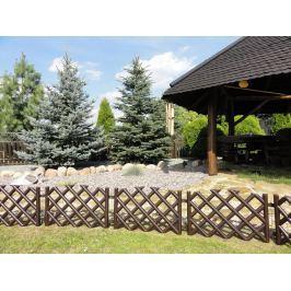 Kerti rácsos kerítés – barna