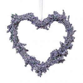 Levendula felakasztható szív, átmérő 15 cm