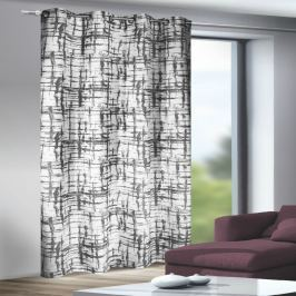 Albani Mesut függöny karikákkal fekete-fehér, 135 x 245 c, 135 x 245 cm