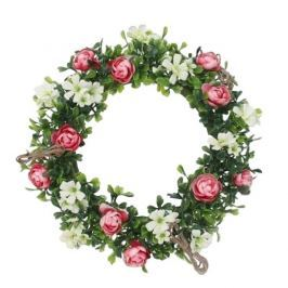 Műanyag koszorú Rózsák, átmérő 25 cm