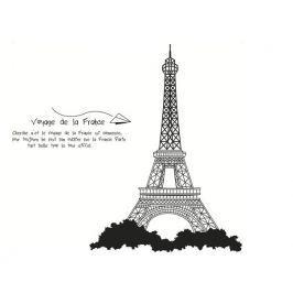 Eiffel-torony öntapadó dekoráció, fekete