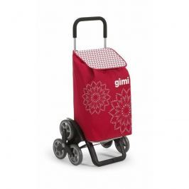 Gimi Kerekes bevásárlókocsi Tris Floral piros, 56 l