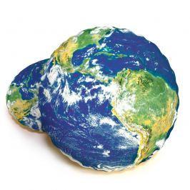 Földgömb formázott 3D párna, 40 cm