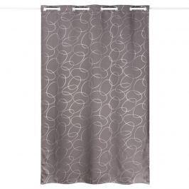 Serge sötétítő függöny, szürke-ezüst, 135 x 245 cm