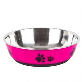 Paws rozsdamentes acél etetőtál, rózsaszín, 22 cm