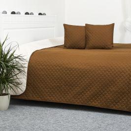 4Home Doubleface barna/krémszínű ágytakaró, 220 x 240 cm, 2x 40 x 40 cm