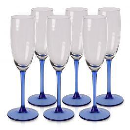 Blue 6 részes pezsgőspohár-készlet, 180 ml