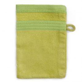 Jahu Bambusz mosdókendő  zöld, 14 x 22 cm