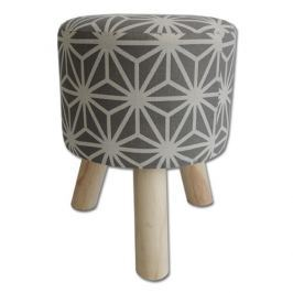 StarDeco Ornament szék szürke, 34,5 cm